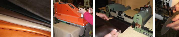 travail du cuir dans notre atelier